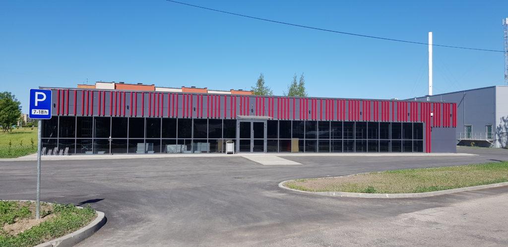 Строительство коммерческого здания в Плунге