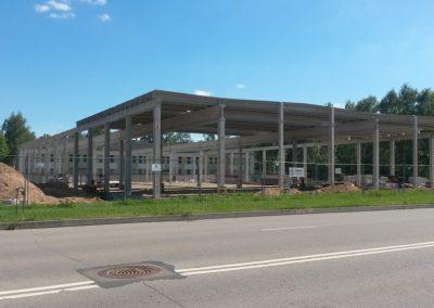 Gamybos paskirties pastato statyba P. Motiekaičio g., Šiauliuose